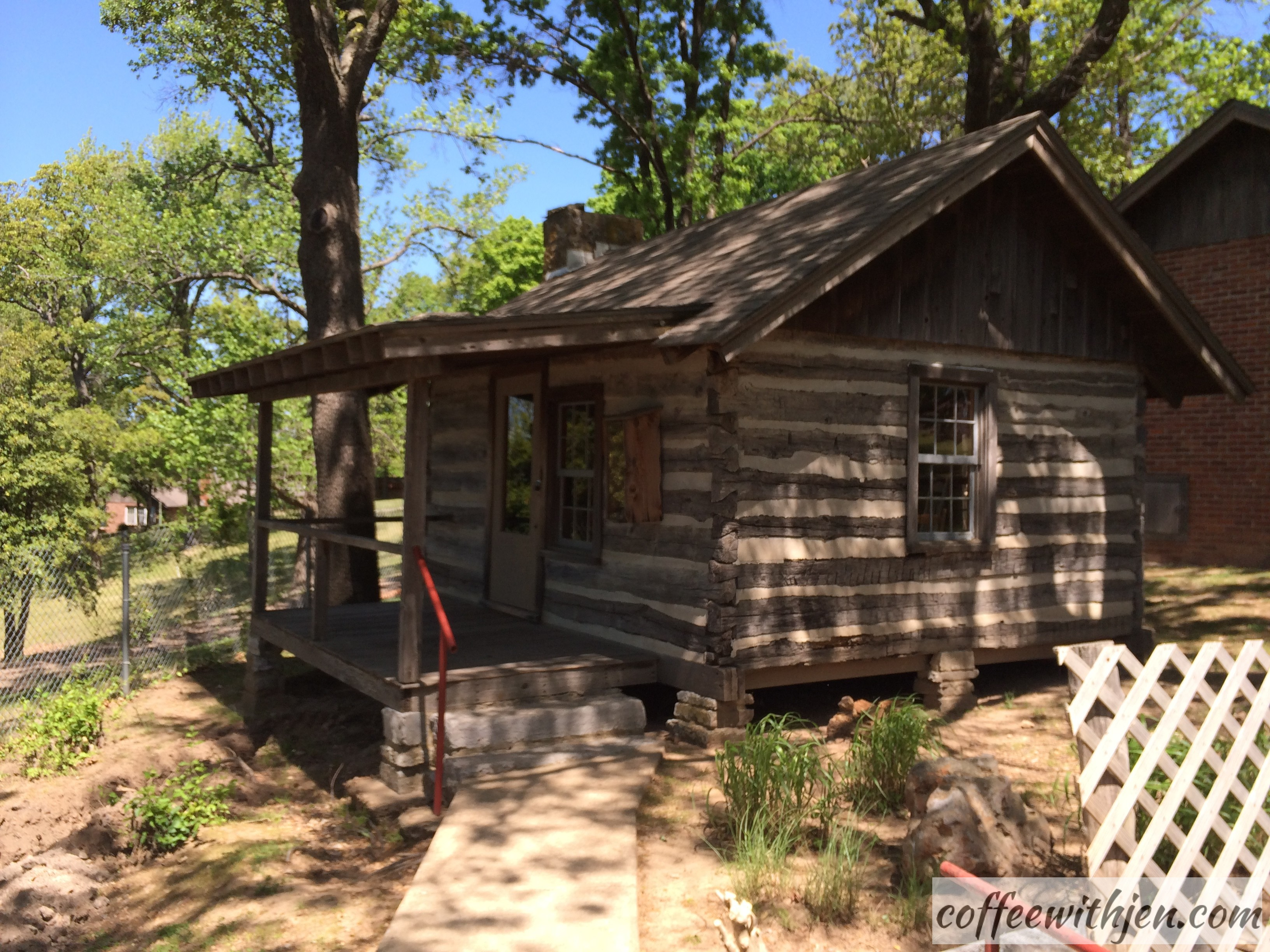This house was reconstructed from the materials from the Van Winkle house at the Hobbs State Park. See my Spring Break post.