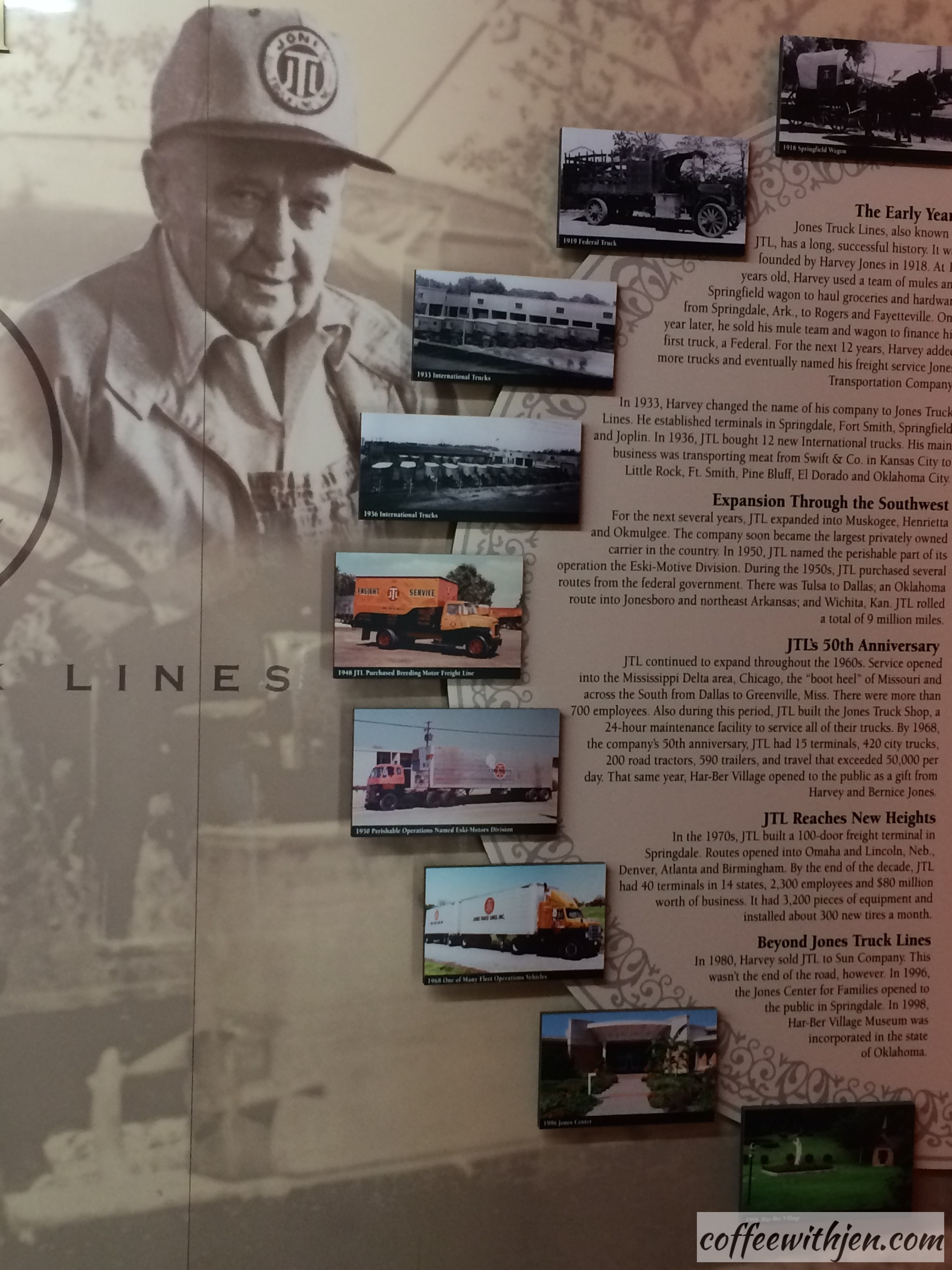 This is a short timeline of the history of Mr. Jones's business.  What a testament to hard work and the American Dream!
