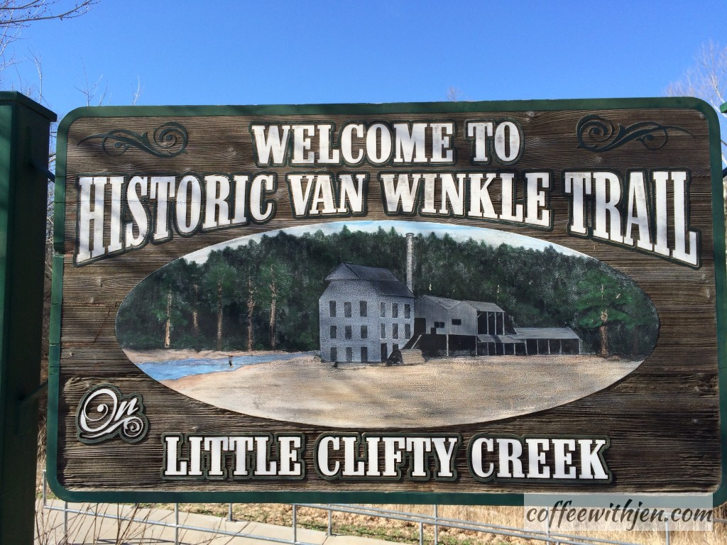 First Stop- Historic Van Winkle Trail. Love this walking trail in Hobbs State Park.