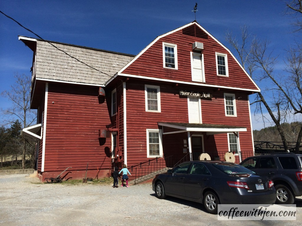 The first floor has the mill.  They grind and sell all kinds of grain mixes including organic and gluten free.  The second floor has a gift shop.  The third floor is the Bean Palace!  Yummy beans and cornbread!