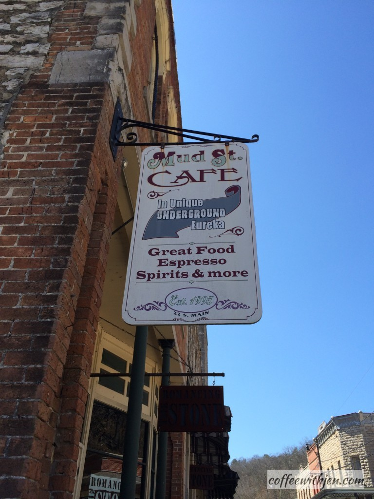 Third Stop: Lunch- Espresso?  Why, yes, please!  The Mud Street Cafe is one of our favorite places to eat at in downtown Eureka Springs.