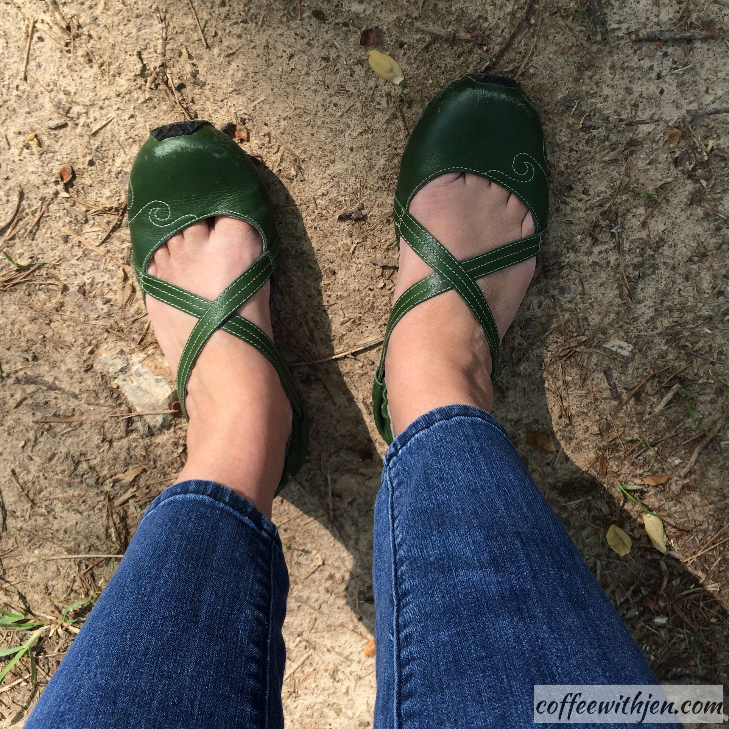 """My favorite shoes!  I bought then in Eureka Springs.  The brand is """"Ahnu""""."""