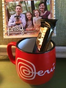 Anndee knows that coffee is my love language.  Such a cute mug! And she brought me Peruvian chocolate!