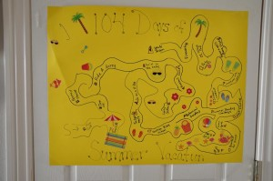 104 Days of Summer Vacation Treasure Map