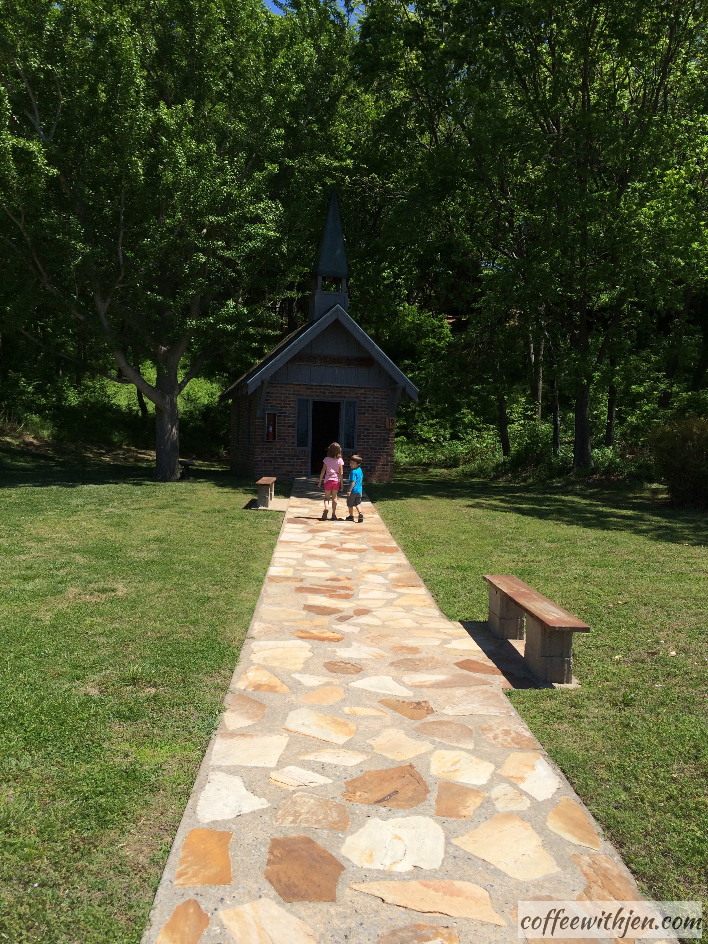 This little chapel was the first building on the property.  Mrs. Jones thought it would be nice to have a church here.