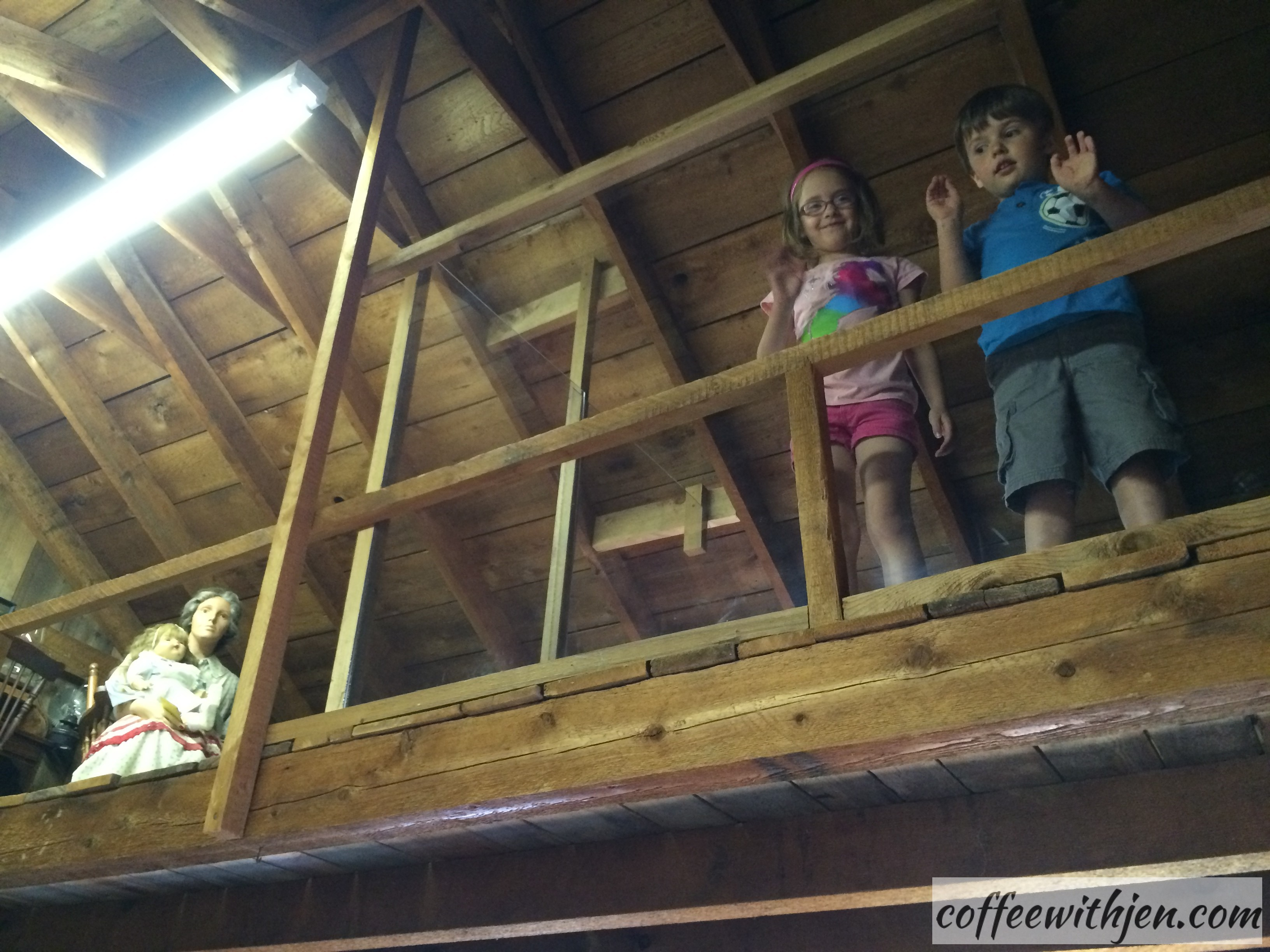 The Kids' Zone- They even got to climb up into the loft like Mary and Laura!