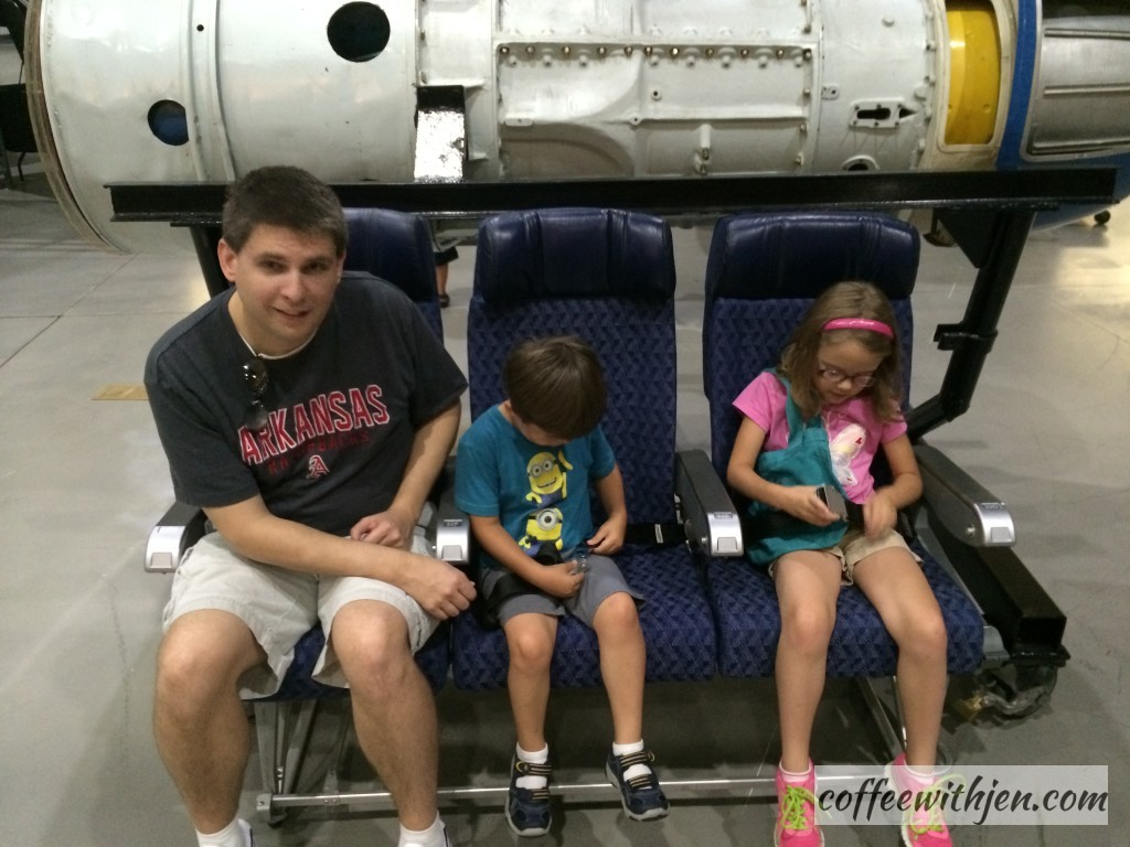 Learning about real airplane seatbelts.